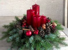 Holiday Red Candlestick Art Design Ideas Latest Fashion Trends for Women . Christmas Candle Decorations, Christmas Flower Arrangements, Christmas Candles, Rustic Christmas, Christmas Wreaths, Christmas Crafts, Christmas Time, Christmas Ideas, Decoration Design