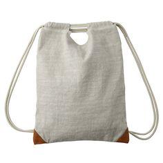 Pre Sale MOMA MUJI 2way Linen Cotton Backpack Bookbag Daypack Bag Japan 134 | eBay