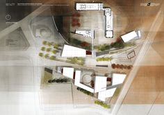 Image 15 of 17 from gallery of Park & Agricultural Heritage Museum / Vamvakidis Simos, Tzortzis Antonis, Zapantiotis Fotis. museum / Courtesy of Vamvakidis Simos, Tzortzis Antonis, Zapantiotis Fotis Architecture Site Plan, Architecture Presentation Board, Presentation Layout, Architecture Graphics, Architecture Drawings, Presentation Boards, Architectural Presentation, Architecture Diagrams, Architectural Models