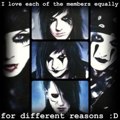 True Andy, Jake, Jinxx, Ashley, and CC