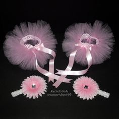 Matching Pink Twin TUTUs!  HOW ADORABLE!!  ♥  You can get these in preemie size, too!