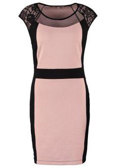 Vestido de algodón rosa y negro 23, 95€