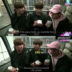 [BTS VON VOYAGE EP.2] Jungkook thinks J-Hope would die first if he was in a movie because he's too excited  lmao kookie
