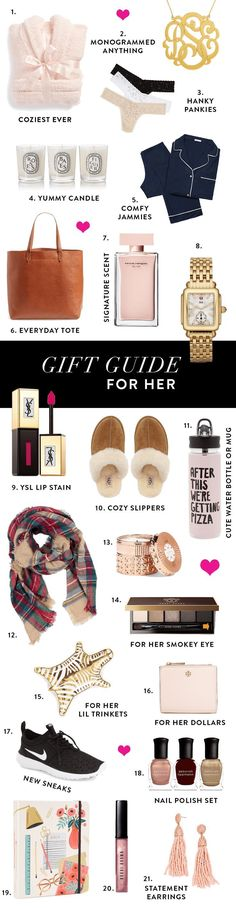 gift guide for her, what to buy for her, holiday shop