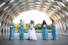 Periwinkle blue bridesmaids dresses.   Image by Heather Parker Photography, heatherparker.com
