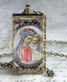 Blessed Mother Child Jesus Jewelry Virgin by DesignsofFaithandJoy