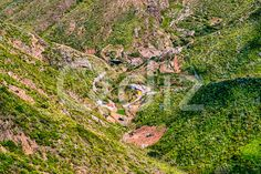 Qdiz Stock Photos | Small buildings in mountains valley,  #buildings #Canary #City #green #island #landscape #nature #scenic #small #Spain #summer #Tenerife #town #valley #view #village