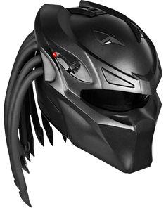 Exclusive custom helmets Predator, Alien and Orc / nlo-moto. Biker Helmets, Custom Motorcycle Helmets, Custom Helmets, Motorcycle Gear, Motorcycle Accessories, Bicycle Helmet, Women Motorcycle, Cb 300, Predator Helmet