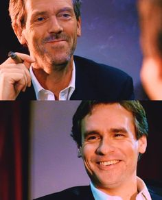 Dr House - Hugh Laurie and Robert Sean Leonard Robert Sean Leonard, Dr House Quotes, House And Wilson, Gregory House, Fox Series, Red Band Society, Grey Anatomy Quotes, Medical Drama, Hugh Laurie