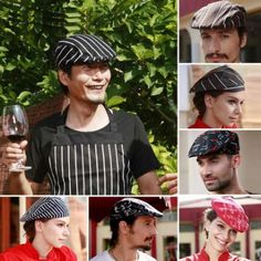 Japanese Style Chefs Hat Cap Kitchen Catering Cap Ribbon Cap Turban A5
