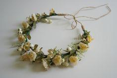 creamy flower crown