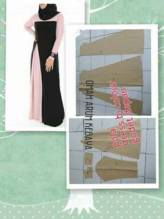 Gamis colour block