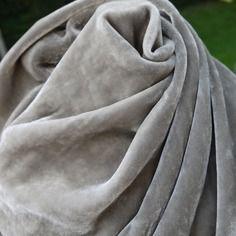 Velours soie 30euros/M  et viscose gris taupé- confort et douceur