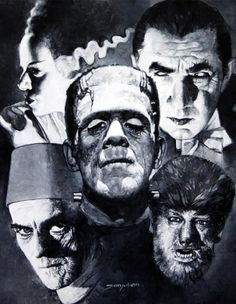Universal Monsters- the ultimate villains in the story