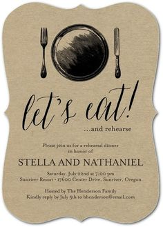 Classic Silverware Party Invitations | $1.74 each for 100