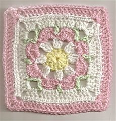 Ravelry: Just Peachy Blossom 6x6 pattern by Donna Mason-Svara