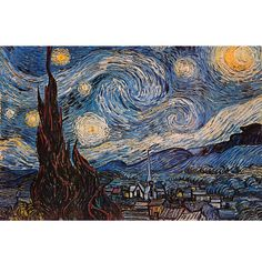 The Starry Night / by Vincent Van Gogh