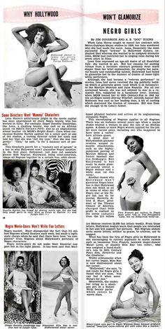 Why Hollywood Won't Glamorize Negro Girls (article) - Jet Magazine, September 17, 1953