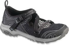 These distinctive water shoes take breathable open mesh and adjustable webbing straps and combine them with a classic Mary Jane profile for protective performance in a stylish silhouette. Available at REI, 100% Satisfaction Guaranteed.