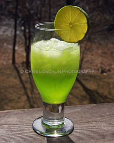 I made this for St. Patricks day this year.  I recommend using sprite or 7UP as a substitute for the lime juice though.  Waaay to limey and strong with it.