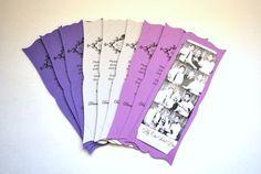 Photo Booth Frame Card Strip Wedding Party Favor