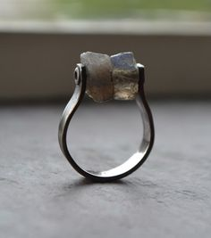 Labradorite Modern Silver Ring Textured by JMcCormickDesigns, $74.00
