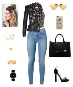 """""""Flashing lights, and we took a wrong turn, and we fell down a rabbit hole."""" by hippiedisaster ❤ liked on Polyvore featuring Miss Selfridge, 7 For All Mankind, Alexander McQueen, Balmain, MICHAEL Michael Kors, Casetify, Linda Farrow, Forever 21, Cartier and Charlotte Russe"""