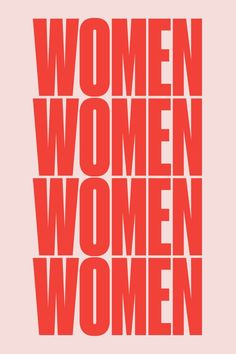 The Pink + Red Trend // Red and pink Women poster by For All Womankind Typographie Logo, Women Poster, Poster S, Poster Prints, Photo Wall Collage, Women Empowerment, Inspire Me, Inspirational Quotes, Motivational Quotes