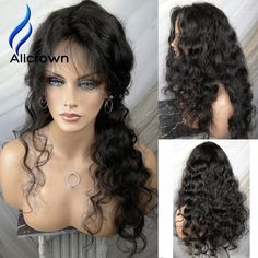 103.35$  Buy here - http://ali7rz.worldwells.pw/go.php?t=32770916639 - Alicrown Black Friday 150 Density Human Hair Full Lace Wigs Curly Lace Frontal Wig Brazilian Virgin Hair Lace Front Wig