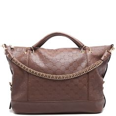 Brown M shoulder bag