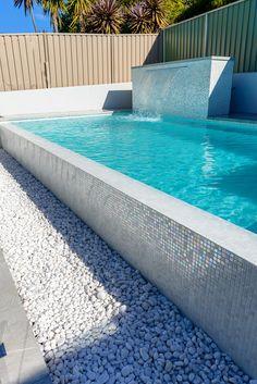 australian-designed-ezarri-white-russian/ - The world's most private search engine Swimming Pool Tiles, Swiming Pool, Swimming Pools Backyard, Swimming Pool Designs, Pool Landscaping, Backyard Pool Designs, Small Backyard Pools, Small Pools, Outdoor Pool Shower