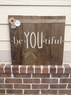 Be•YOU•tiful Wooden Wall Decor by SallyandSues on Etsy
