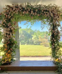 Garden Style Perfection. When a floral arch exceeds all your wedding expectations!!!