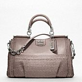 MADISON WOVEN LEATHER CAROLINE DOWEL SATCHEL