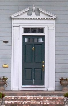 images of colonial revival doors | ... story Colonial Revival includes a broken pediment over the front door