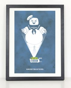 Ghostbusters Minimalist Movie Poster by ColiseumGraphics on Etsy, $18.00