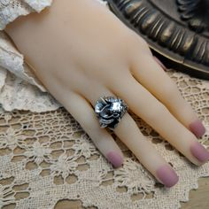 This ring (SOLD) WAS Fine Silver with a 6AAAAAA Quality Cut Russian CZ Artisan Jewelry, Rings, Silver, Fashion, Moda, Fashion Styles, Ring, Jewelry Rings, Fashion Illustrations