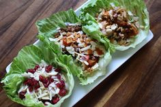 Trio of Lettuce Wraps