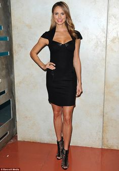 Reality star: The former wrestler looked ravishing after a day of hosting her new show Supermarket Superstars for Lifetime on July 31 Girl Celebrities, Celebs, Beautiful Legs, Beautiful Women, Stacy Keibler, Plunge Dress, Bling Shoes, Wrestling Divas, July 31
