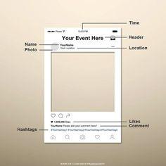 Instagram Photo Booth Prop Instagram Frame by FrameMonkey on Etsy
