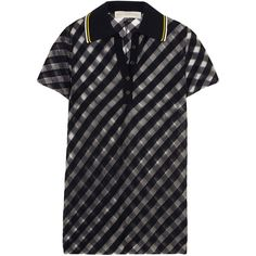 Stella McCartney Striped tulle polo shirt (8.783.100 VND) ❤ liked on  Polyvore
