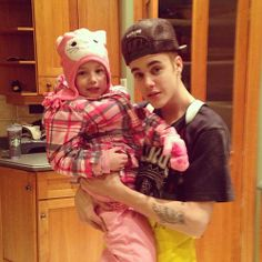 #Justin #Bieber and Jazzy.  (He must be a good guy 'cuz he loves  kids and animals, right?)