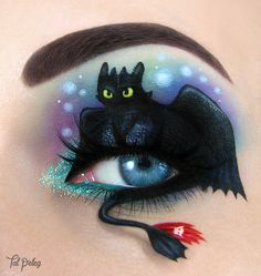 "Toothless from ""how to train your dragon"" ♥ Follow me on FACEBOOK : Tal Peleg - Art of Makeup Instagram: tal_peleg 