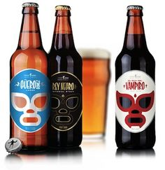 Cervecería Sagrada combines the full flavors of Mexican craft beer with a design aesthetic inspired by Lucho Libre
