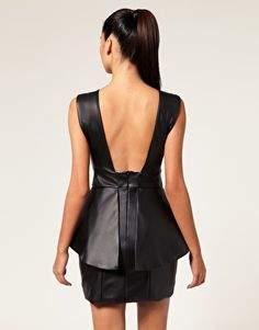 Leather and Peplum...What more can you ask for?