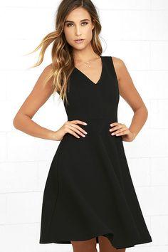 Hello World Black Midi Dress 1