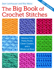 The Paperback of the The Big Book of Crochet Stitches: Fabulous Fans, Pretty Picots, Clever Clusters and a Whole Lot More by Rita Weiss, Jean LeinhauserWith more than 350 crochet stitches explained in this book it will make a most welcome addition to any Crochet Afghans, Tunisian Crochet Stitches, Crochet Motifs, Crochet Books, Crochet Stitches Patterns, Crochet Designs, Stitch Patterns, Potholder Patterns, Crochet Borders