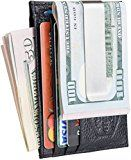 Mens Money Clip Wallet – Front Pocket Wallet – RFID Black Genuine Leather   CUT THE BULGE, GET RID OF THE OLD BULKY BILLFOLD – ridge wallet from 100% genuine leather (Embossed Full-Grain). It is strong, flat, lightweight and breathable. It is great for minimalist style because...