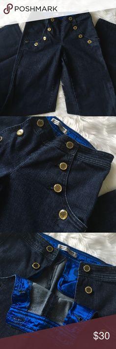 Fortune Denim high waist wide leg jeans Fortune denim wide leg jeans. High waist. Bling buttons  hidden pockets Excellent condition. Size 26. Super soft denim! Fortune Denim Jeans Flare & Wide Leg