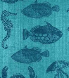 "Snuggle Flannel Fabric 42""-Nautical Sealife"